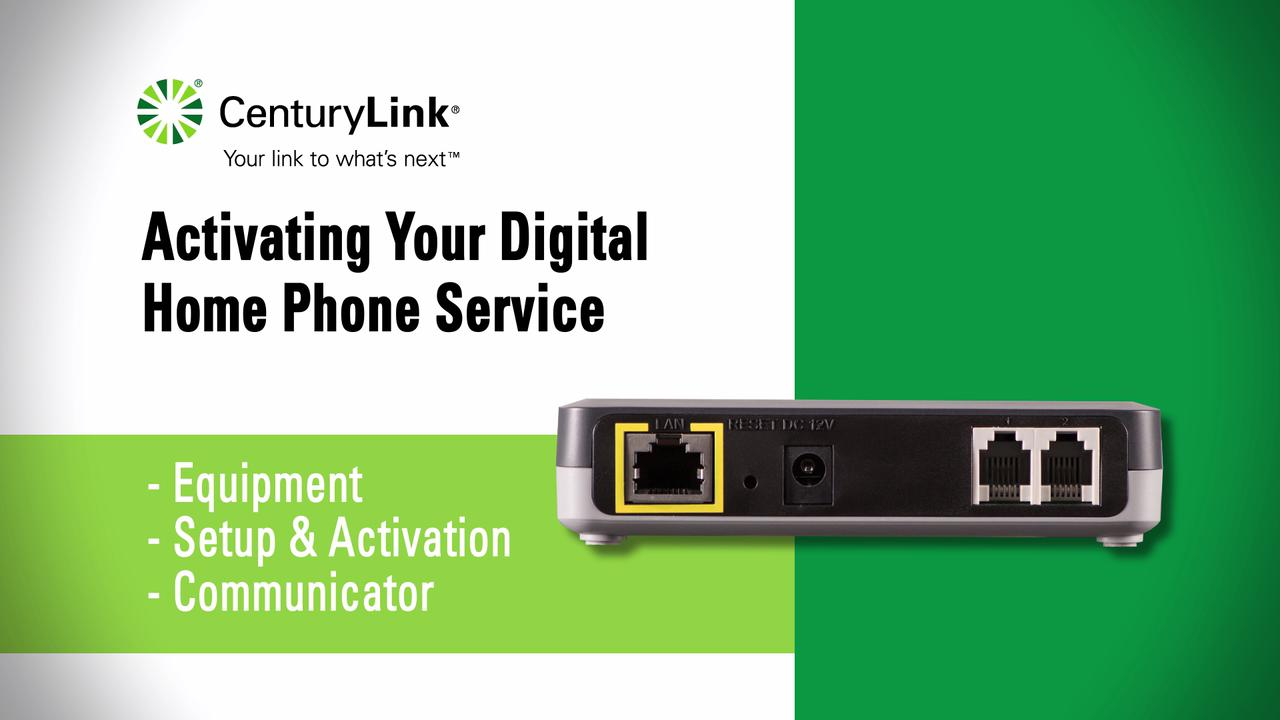 Centurylink Phone Service >> Guides Digital Home Phone