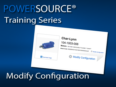 Use the modify configuration option to adjust an existing model code quickly!