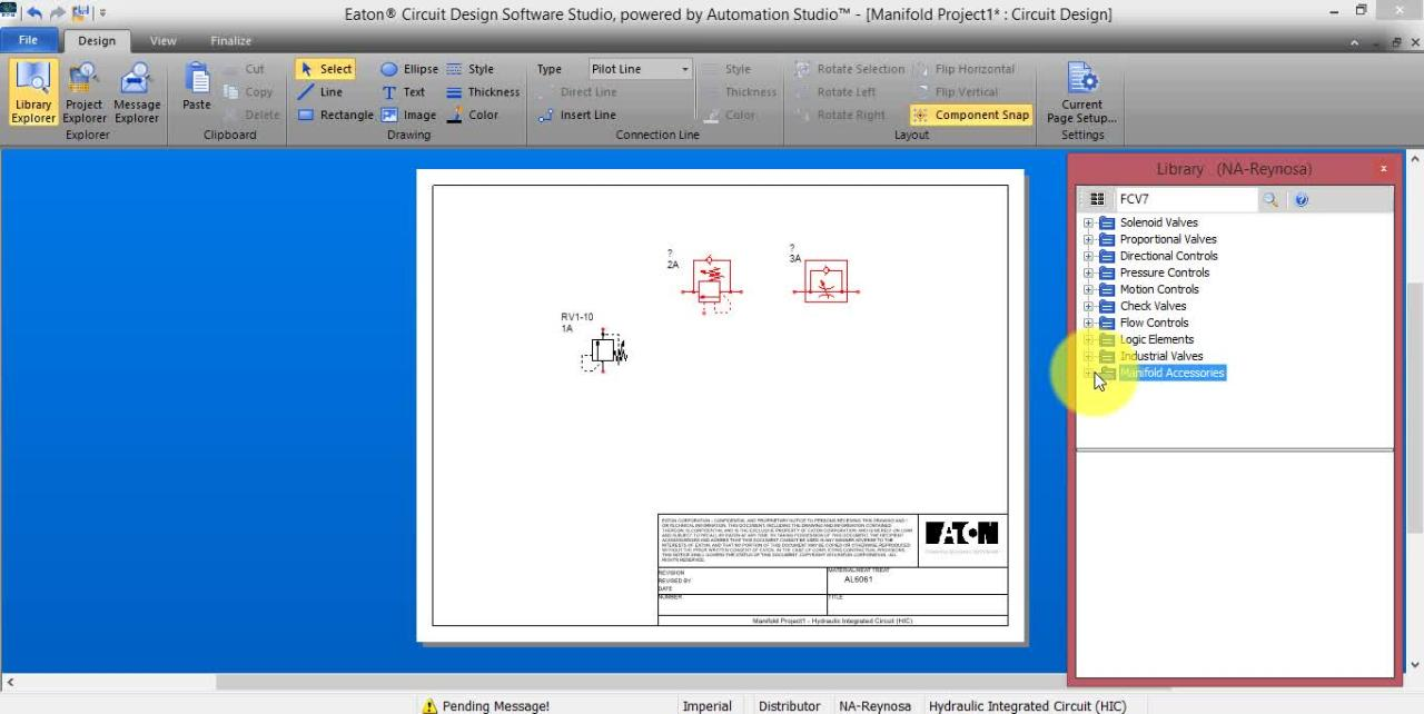 3 Designing A Circuit Using Design Software Studio Computer Hydraulics Eaton Videos