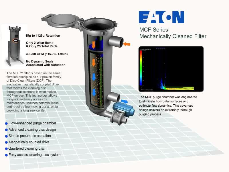 Eaton Mcf Mechanically Cleaned Filter Filtration Eaton