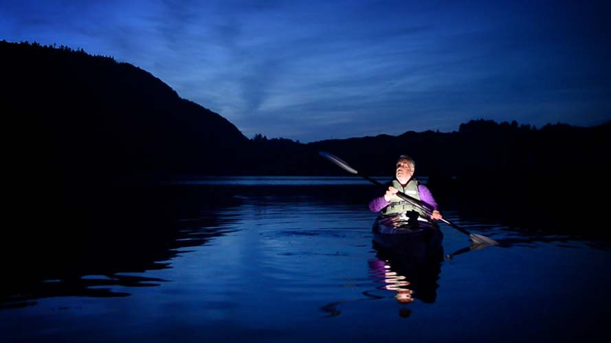 Image result for night time kayaking atlantic sea kayaking
