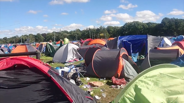 Electric Picnic Thousands Of Tents Abandoned In Exodus