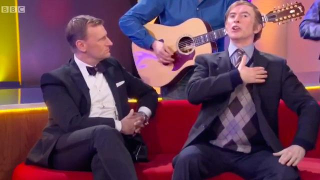 Alan Partridge sings Come Out, Ye Black and Tans on BBC