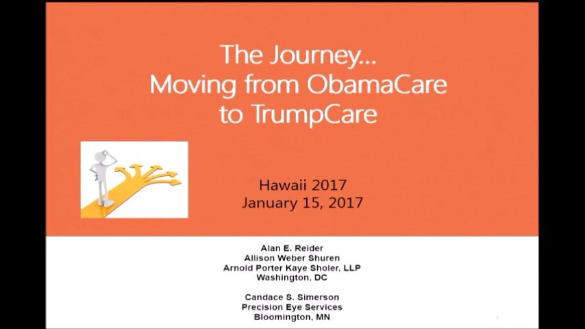 VIDEO: Transitioning from Obamacare to Trumpcare