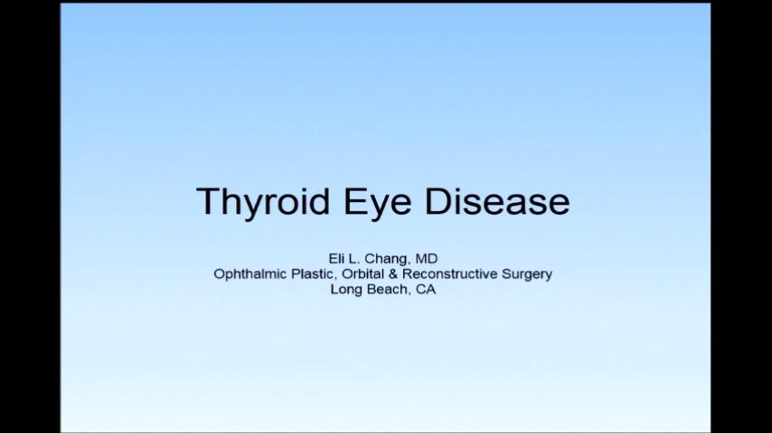 VIDEO: Thyroid eye disease 101