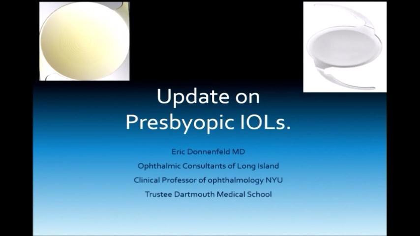 VIDEO: Update on presbyopic intraocular lenses
