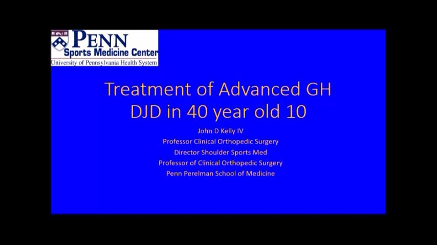 VIDEO: Kelly discusses treatment options for glenohumeral degenerative joint disease