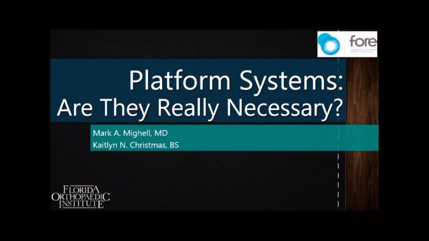 VIDEO: Presenter says platform systems are beneficial for stem removal, retention after failed TSA