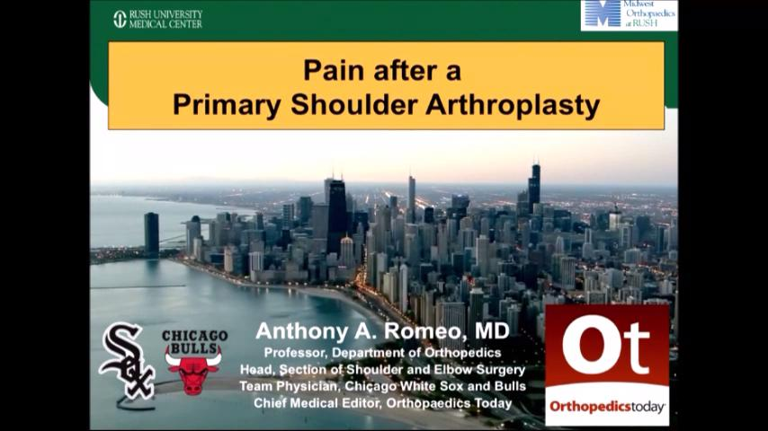 VIDEO: Presenter discusses ways to minimize pain in patients after total shoulder arthroplasty