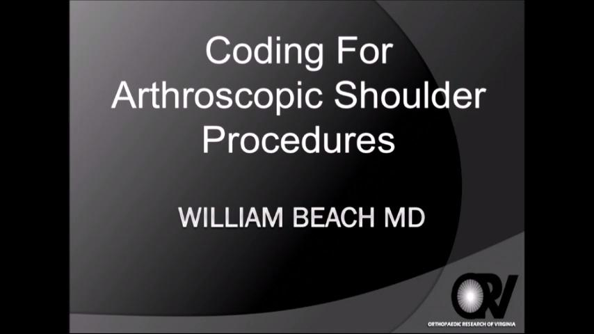 VIDEO: Beach discusses coding for arthroscopic shoulder procedures