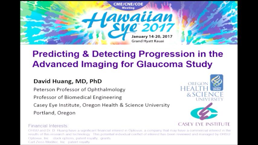 VIDEO: Predicting and detection progression in the advanced imaging for glaucoma study