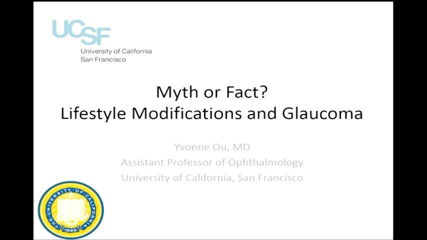 VIDEO:Myth of fact? Lifestyle modifications and glaucoma