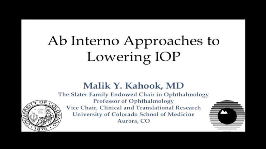 VIDEO: Ab interno approaches to lowering intraocular pressure