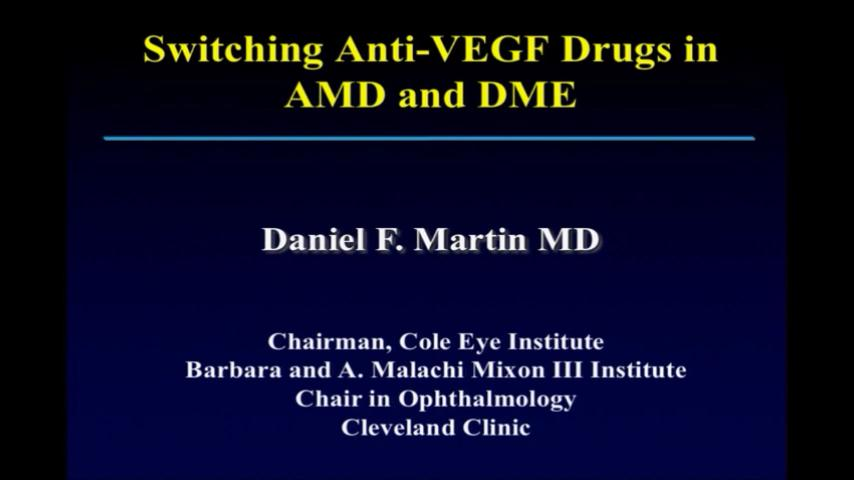 VIDEO: Switching anti-VEGF drugs in age-related macular degeneration and diabetic macular edema