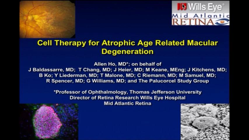 VIDEO: Cell therapy trials for atrophic age-related macular degeneration