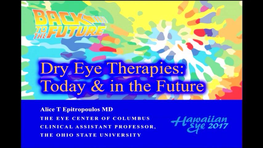 VIDEO: Dry eye therapies: Today and in the future