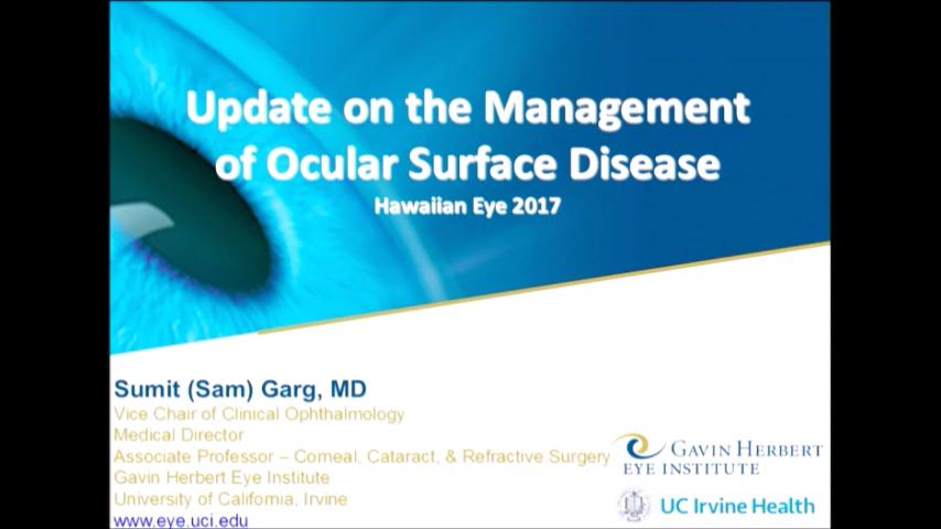 VIDEO: Update on the management of ocular surface disease