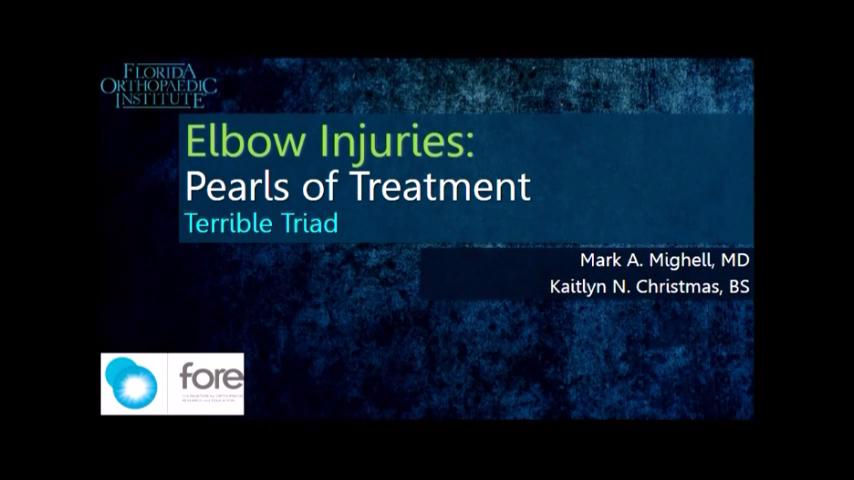VIDEO: Mighell discusses treatment pearls for elbow injuries