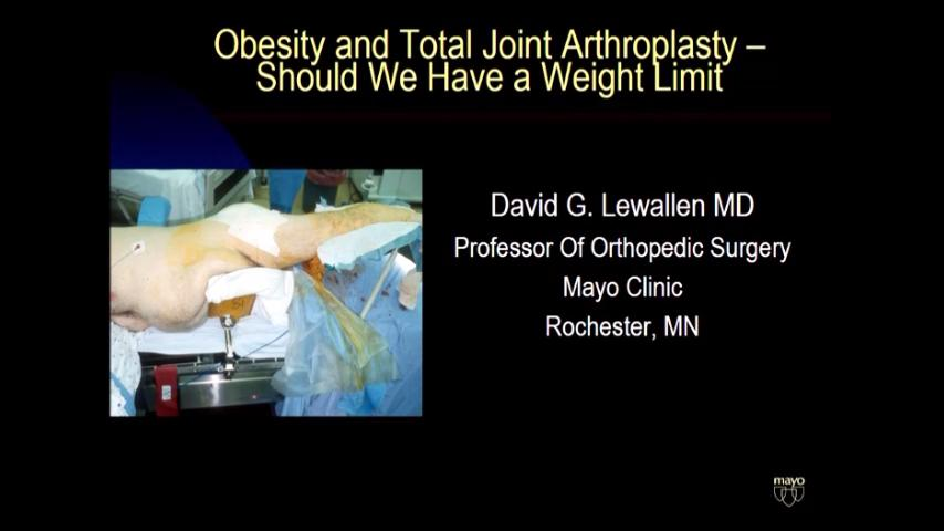 VIDEO: Lewallen discusses TJA for patients who are obese