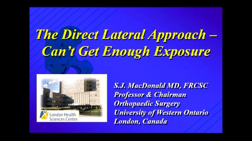 VIDEO: Presenter discusses direct lateral approach for THA