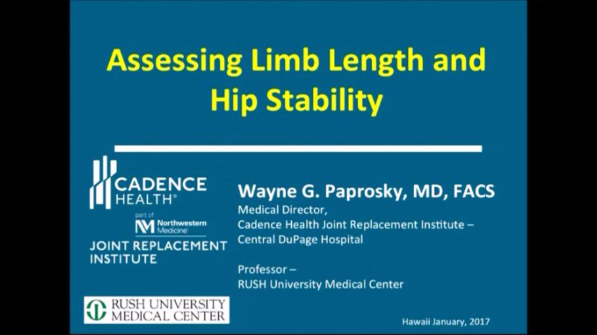 VIDEO: Speakers discuss limb lengthening, hip instability