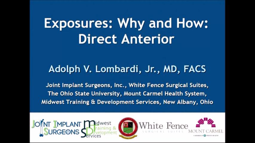 VIDEO: Lombardi discusses the direct anterior approach for THA