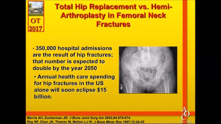 VIDEO: Mahoney compares outcomes of THA, hemiarthroplasty