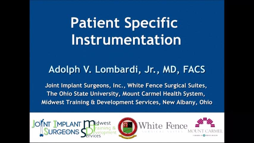 VIDEO: Presenter discusses use of patient-specific instrumentation in orthopedic surgery