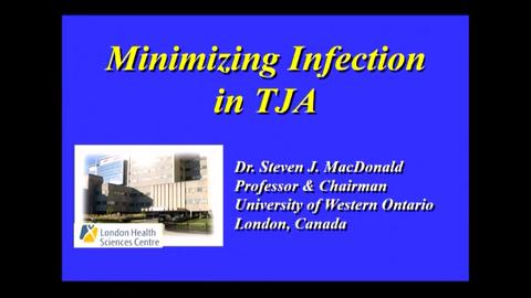 VIDEO: Presenter discusses ways to reduce infections in TJA patients