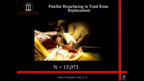 VIDEO: Mahoney speaks about patellar resurfacing in total knee replacement