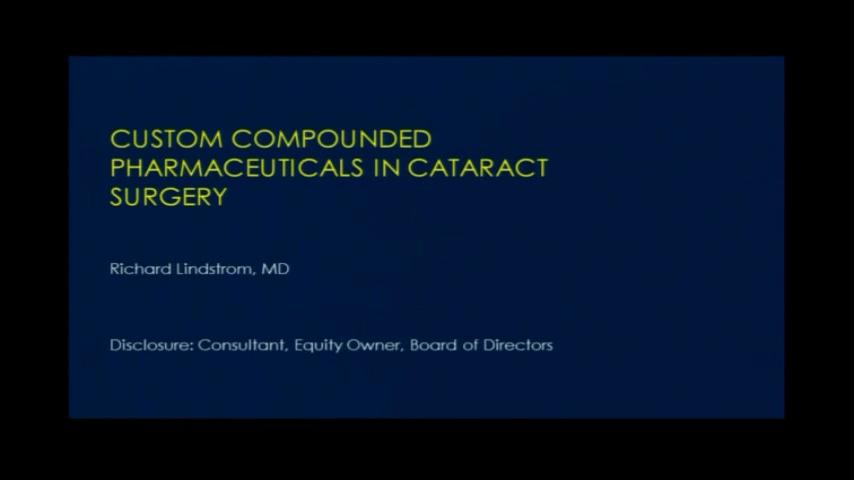 VIDEO: Custom compounded pharmaceuticals in cataract surgery