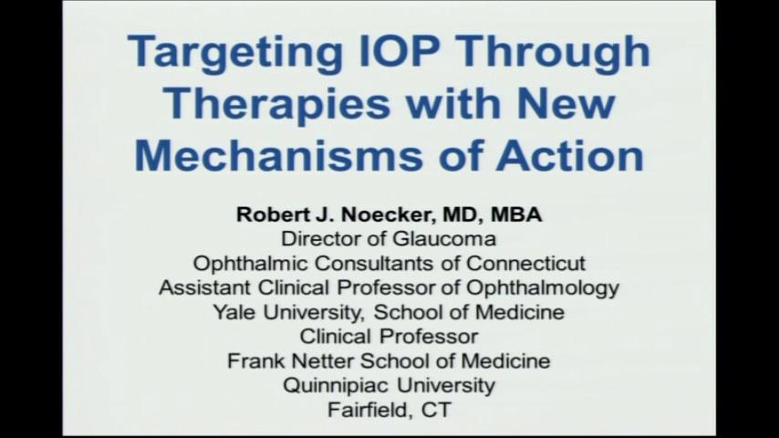 VIDEO: Targeting IOP through therapies with new mechanisms of action
