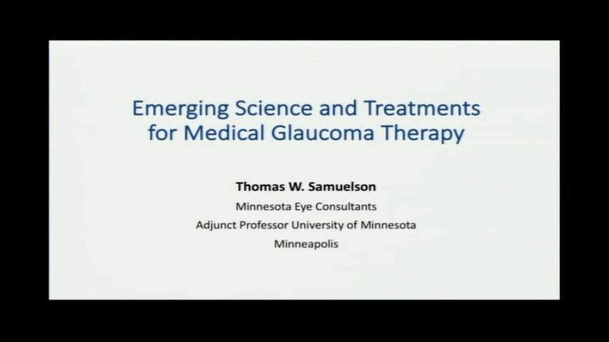 VIDEO: Emerging science of developmental therapies for glaucoma