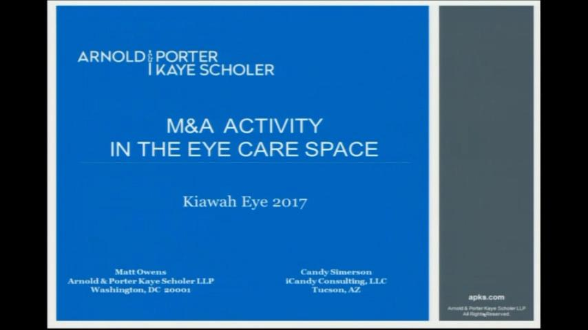 VIDEO: Mergers and acquisitions activity in the eye care space