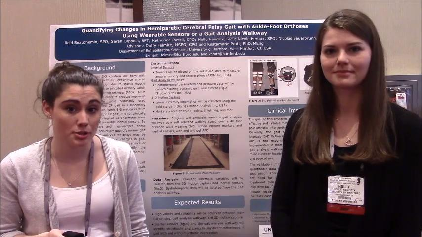 VIDEO: Using inertial sensors in patients with cerebral palsy gait and orthoses