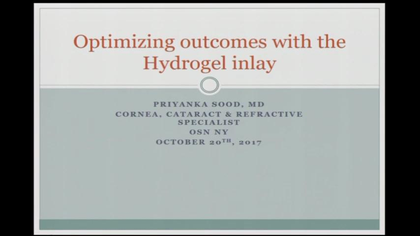Optimizing outcomes with the Hydrogel inlay