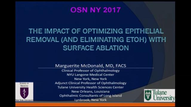 The impact of optimizing epithelial removal (and eliminating ETOH) with surface ablation
