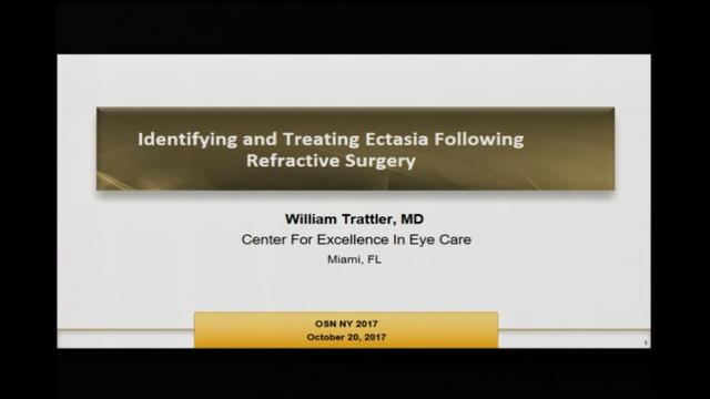 Identifying and treating ectasia following refractive surgery