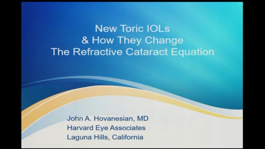 New toric IOLs and how they change the refractive cataract equation