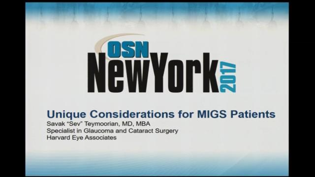 Unique considerations for MIGS patients