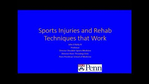 VIDEO: Kelly discusses rehabilitation techniques for sports injuries