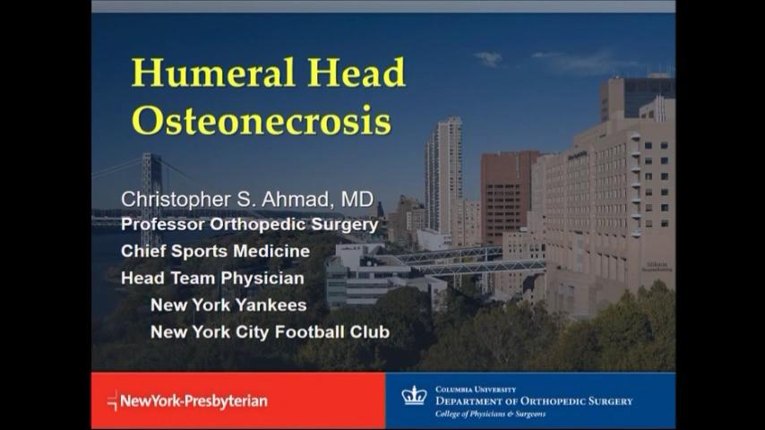 VIDEO: Presenter speaks to humeral head osteonecrosis