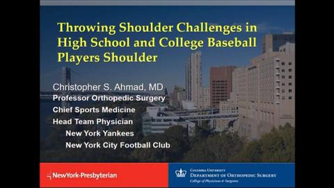 VIDEO: Ahmad discusses challenges orthopedic surgeons face with throwing shoulders