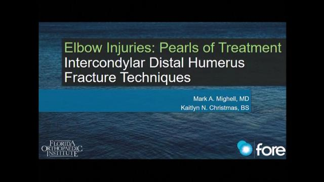 VIDEO: Presenter discusses treatment of elbow injuries