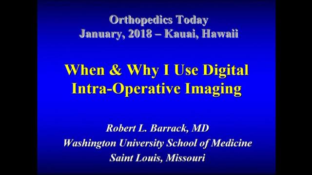 VIDEO: Presenter discusses why orthopedic surgeons use intraoperative imaging