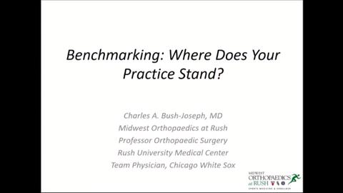 VIDEO: Presenter speaks to the role of benchmarking in orthopedic practices