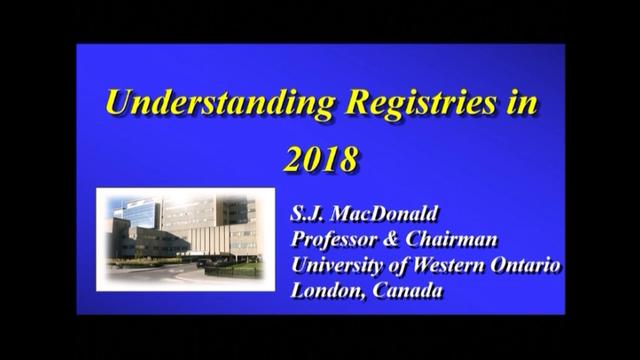 VIDEO: Presenter discusses pros, cons of total joint registries