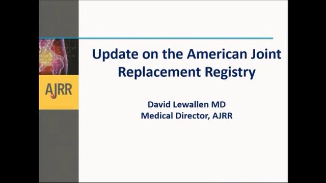 VIDEO: Presenter discusses updates made to American Joint Replacement Registry