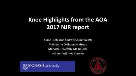 VIDEO: Presenter discusses knee highlights from Australian joint replacement registry