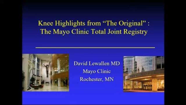 VIDEO: Presenter discusses knee highlights from Mayo Clinic Total Joint Registry